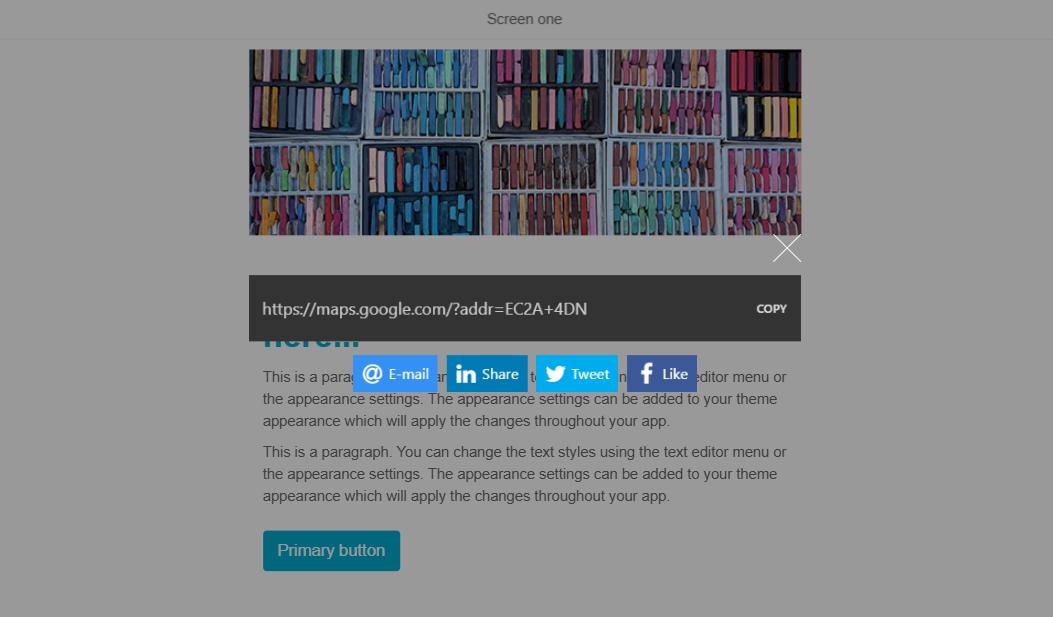 Share URL on web
